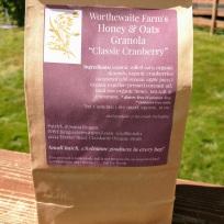 classic cranberry granola bag back