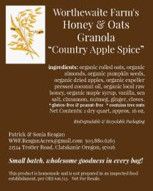 country apple spice granola label